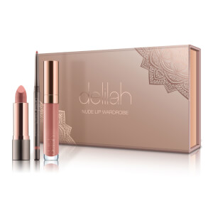 delilah Nude Lip Wardrobe Holiday Collection