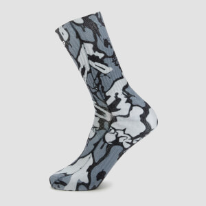 MP x Hexxee合作款Adapt系列中筒运动袜 - 灰色迷彩
