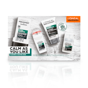 L'Oreal Men Expert Calm as You Like 4 Piece Gift Set for Him