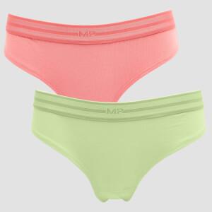MP Women's Essentials Hipster (2 Pack) Butterfly/Geranium Pink