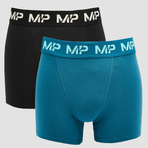 MP Men's Limited Edition Impact Essentials Boxers (2 Pack) - Black/Teal