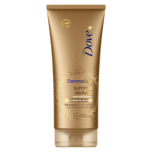 Dove Derma Spa Gradual Self Tan Body Lotion Summer Revive Shimmer 200ml