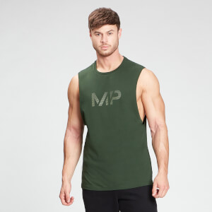 MP Men's Gradient Line Graphic Tank Top - Dark Green