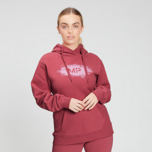 MP Women's Chalk Graphic Hoodie - Berry Pink